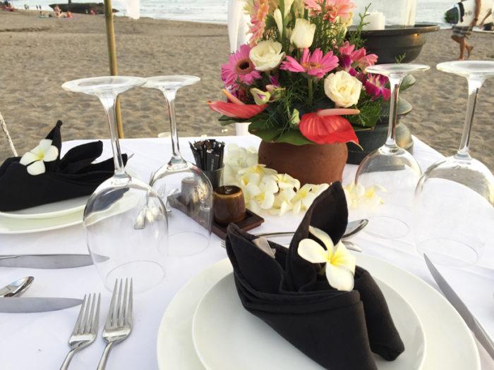 ロマンティックディナーテーブル