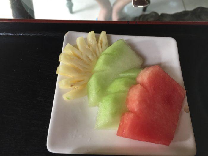 アメティスヴィラ朝食フルーツ